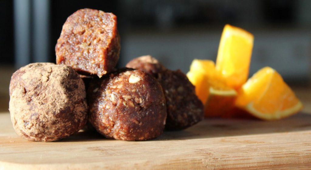 protein balls cacao orange