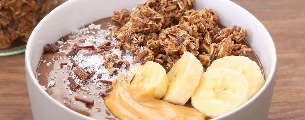fitness recipe chocolate muesli banana